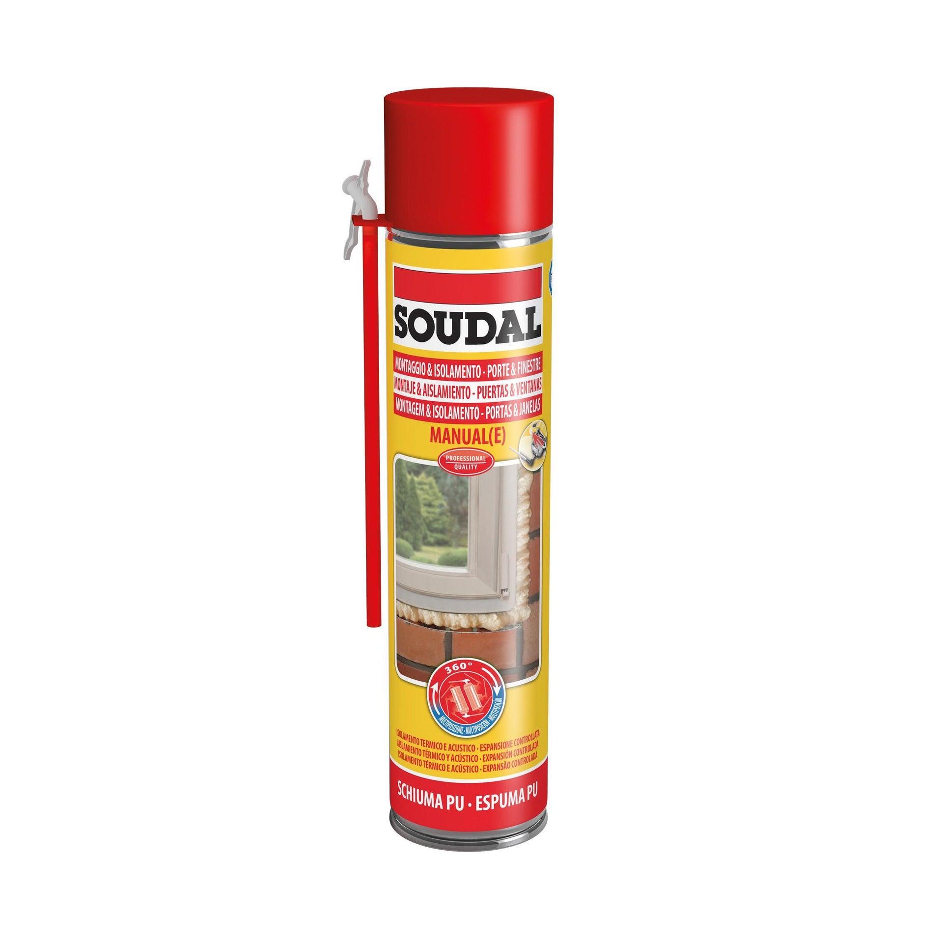Schiuma di poliuretano SOUDAL Porte e finestre ecru per porta 0,6 ml - 4