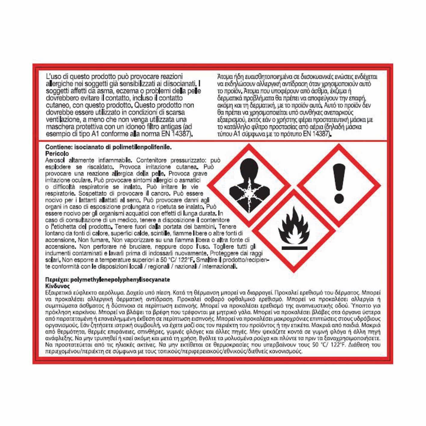Schiuma espansa poliuretanica AXTON bianco per porta 0,75 ml - 2