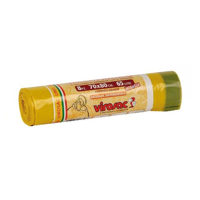 Sacchi spazzatura Saccopratico L 70 x H 80 cm 65 L giallo 8 pezzi - 1