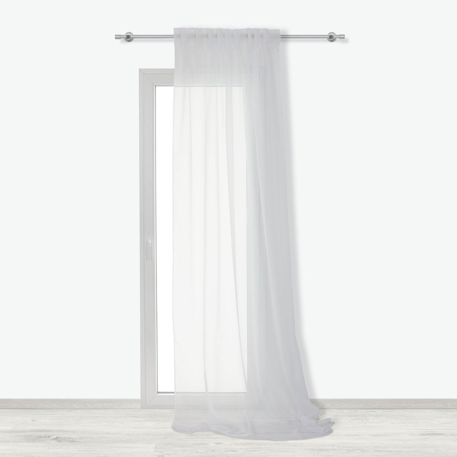 Tenda INSPIRE Lolly bianco fettuccia e passanti 140 x 280 cm - 2