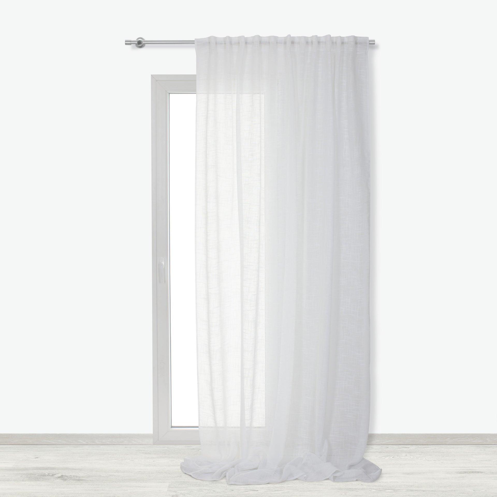 Tenda INSPIRE Amina bianco fettuccia con passanti nascosti 200 x 280 cm - 3