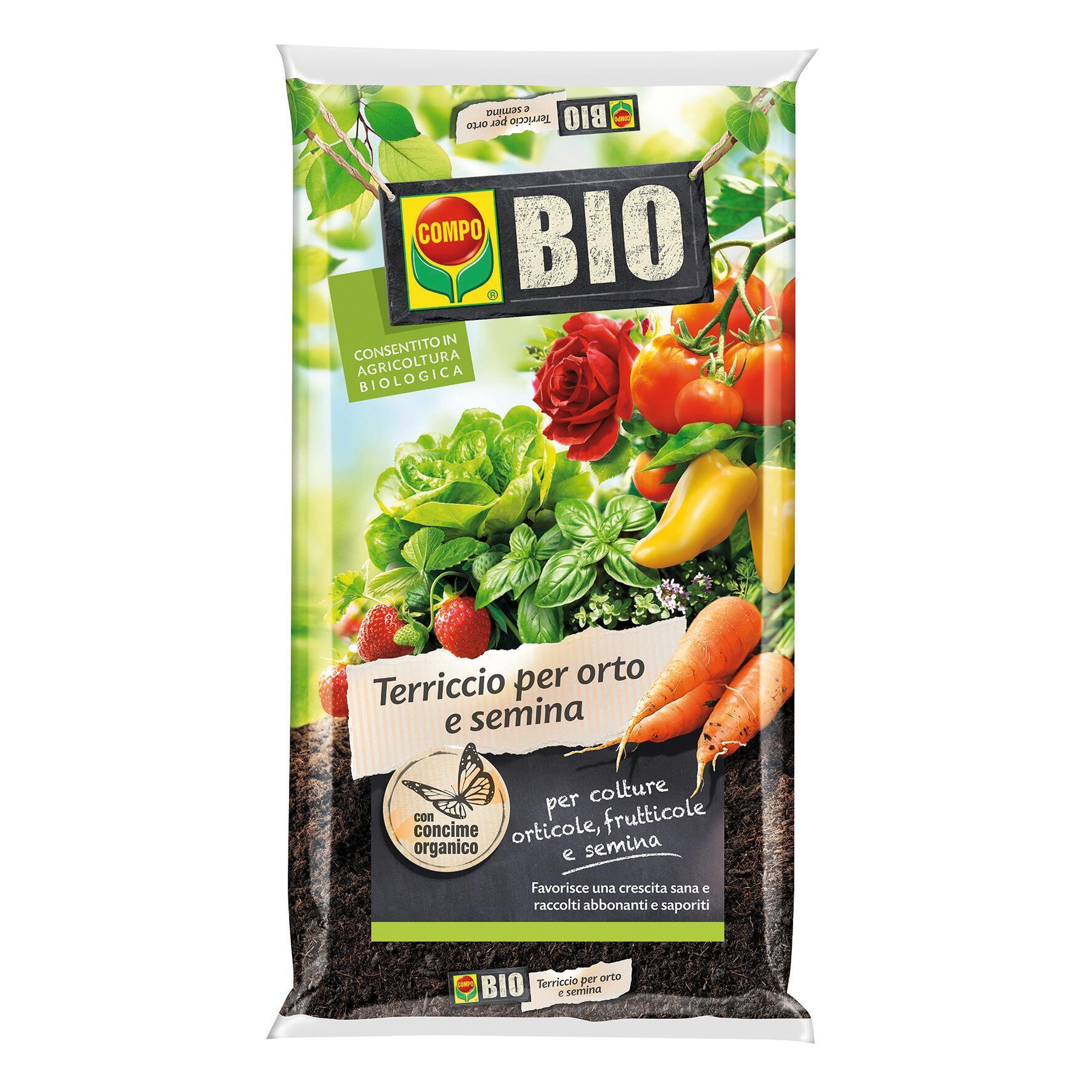 Terriccio COMPO Orto semina bio 80 L - 1