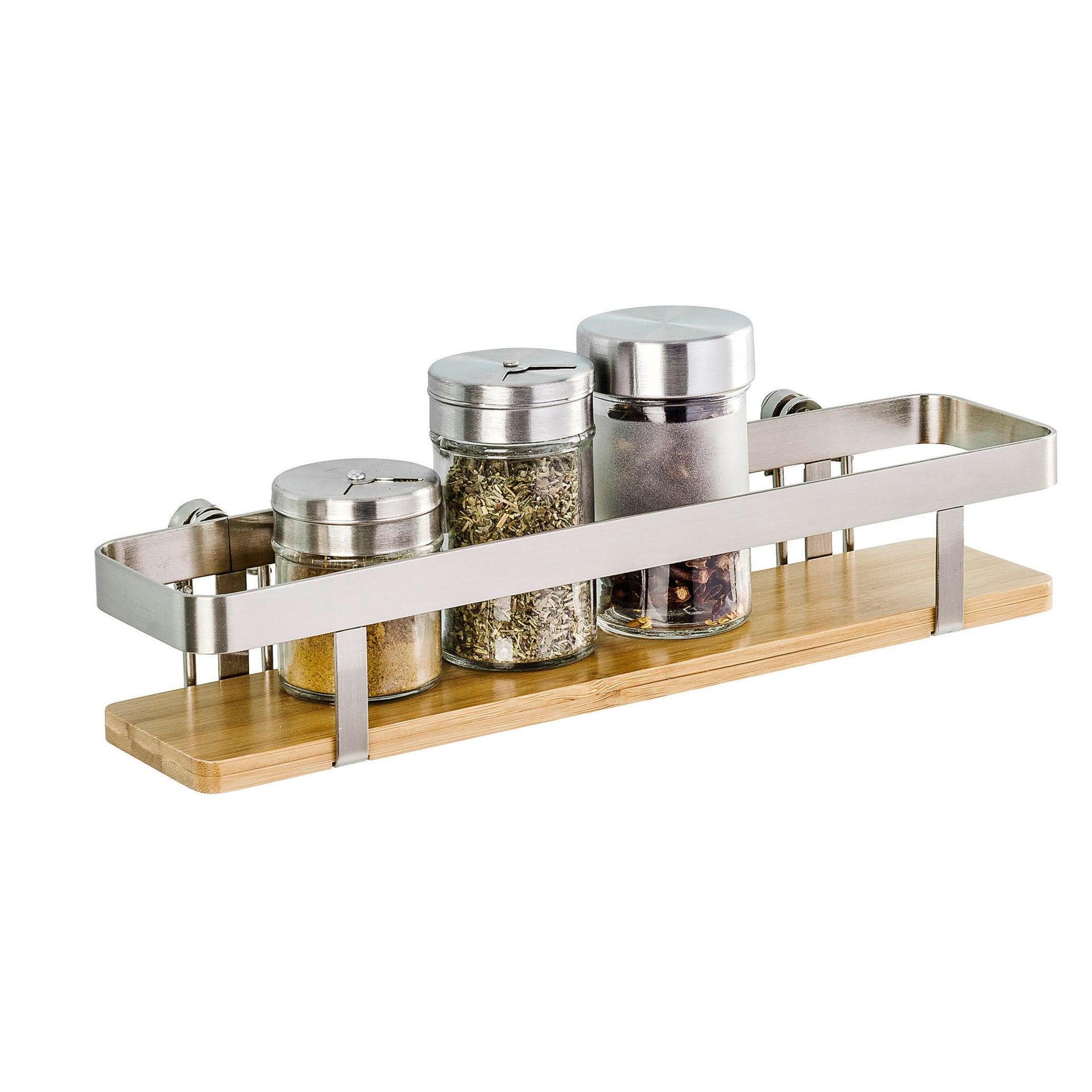 Ripiano per le spezie adesivo argento e marrone P 70 cm x L 300 x H 55 mm - 1