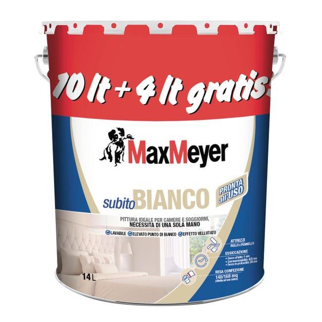 Pittura murale Lavabile MAX MEYER Subito Bianco bianco 14 L - 1