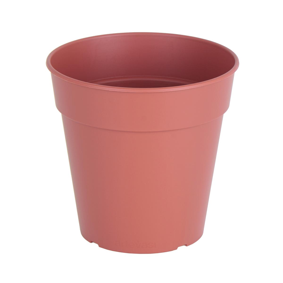 Vaso Madagascar ARTEVASI in plastica colore cotto H 14.2 cm, Ø 15 cm