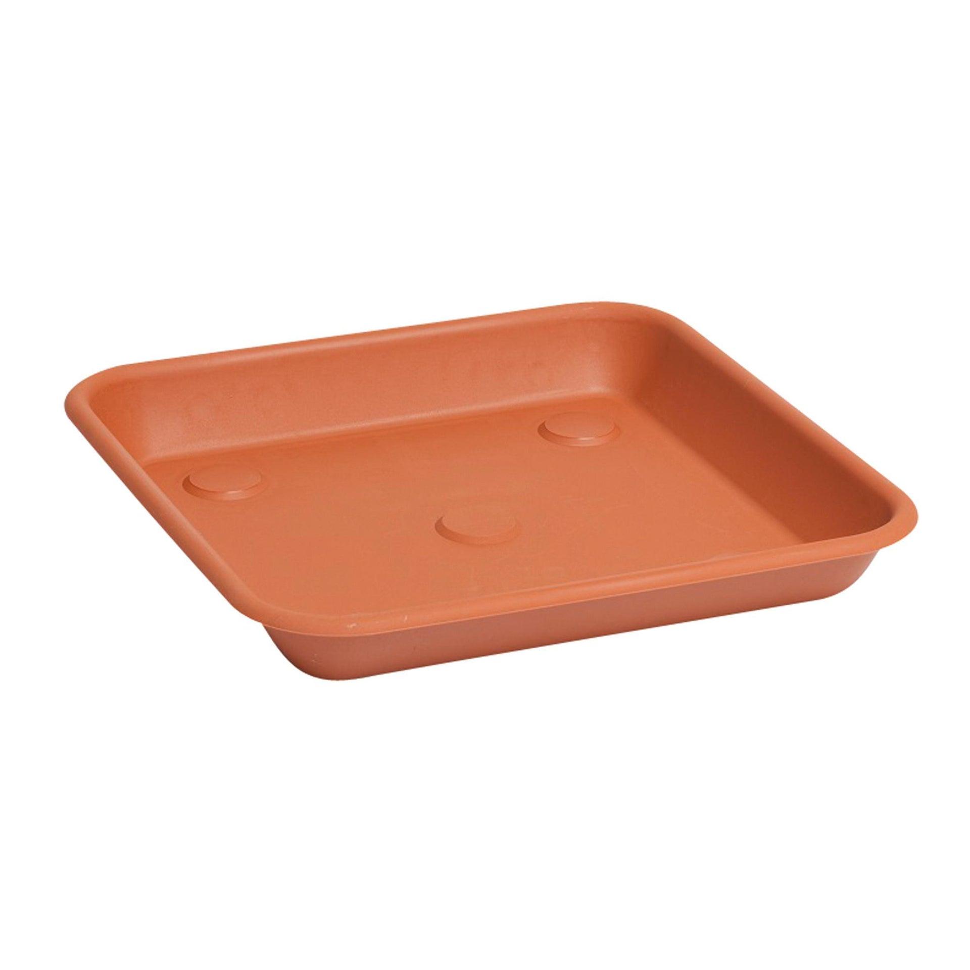 Sottovaso in plastica colore cotto Omnia P 30 x L 30 cm