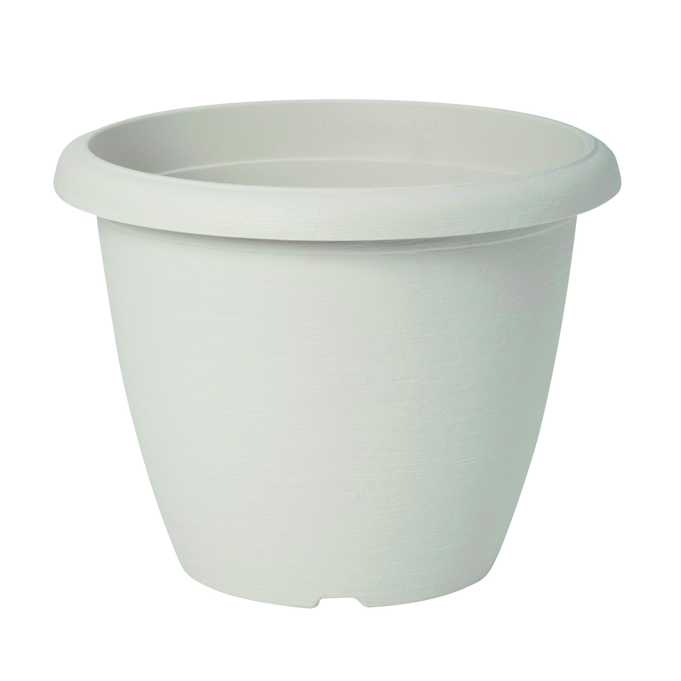 Vaso Terrae in polipropilene colore bianco H 37 cm, Ø 50 cm