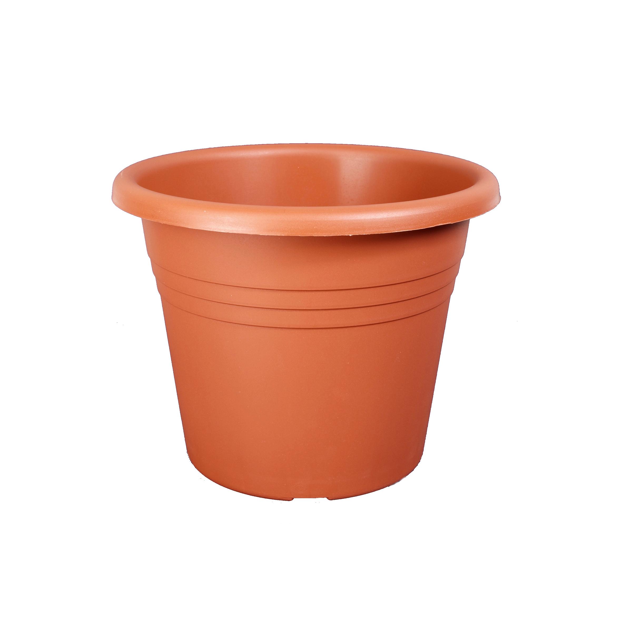 Vaso Isola in plastica colore cotto H 33 cm, Ø 45 cm