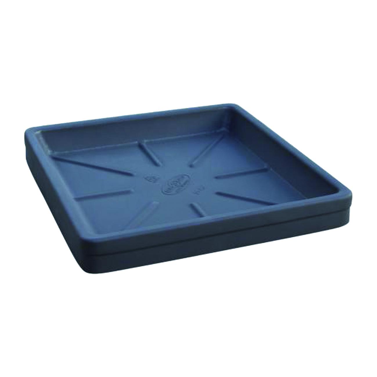 Sottovaso Neze in plastica color nero H 5.2 x L 42 x P 42 cm