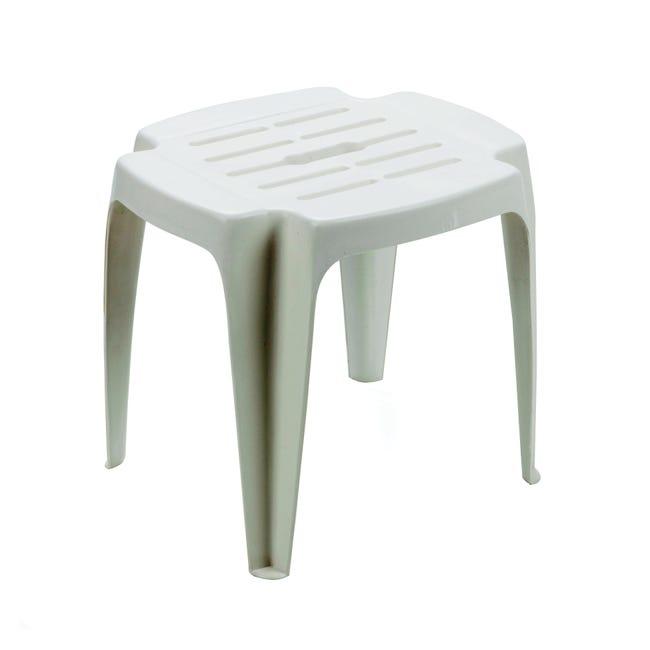 Tavolino da giardino rettangolare Calypso con piano in polipropilene L 37 x P 42 cm - 1