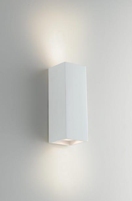 Applique design gesso Foster bianco, in calcestruzzo, 7.3 cm, 2 luci INTEC - 1
