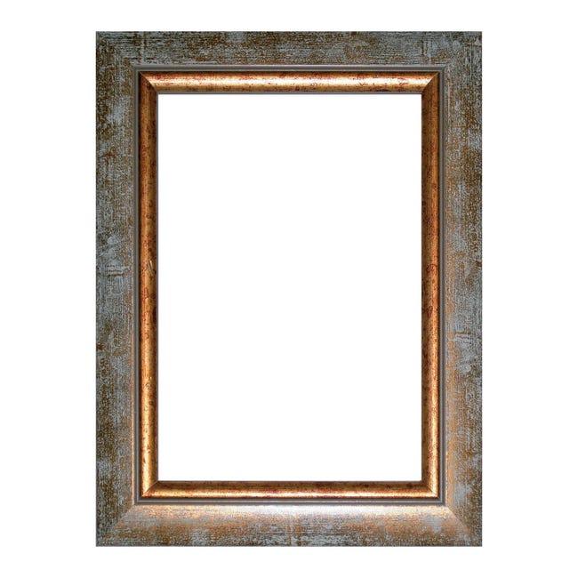 Cornice INSPIRE Boston avorio<multisep/>oro per foto da 29.7x42 cm - 1