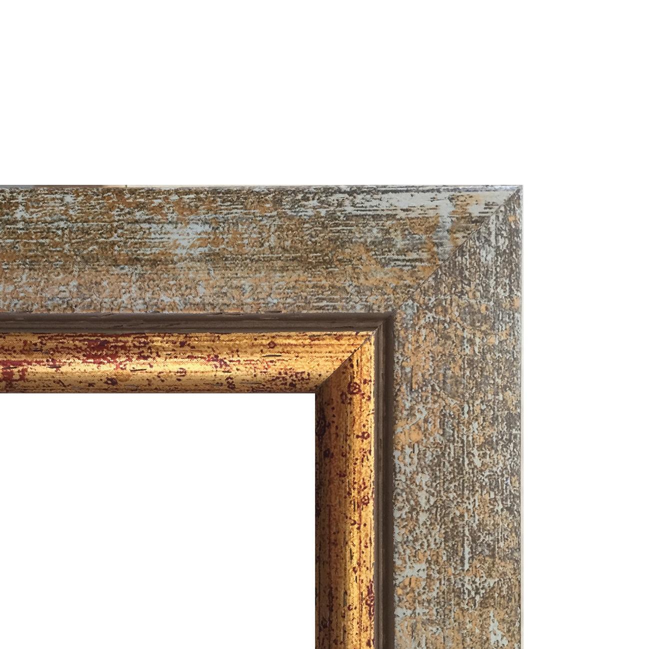Cornice INSPIRE Boston avorio<multisep/>oro per foto da 29.7x42 cm - 2