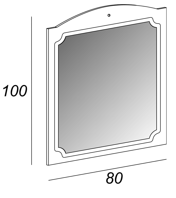 Specchio non luminoso bagno rettangolare Caravaggio L 80 x H 100 cm - 2