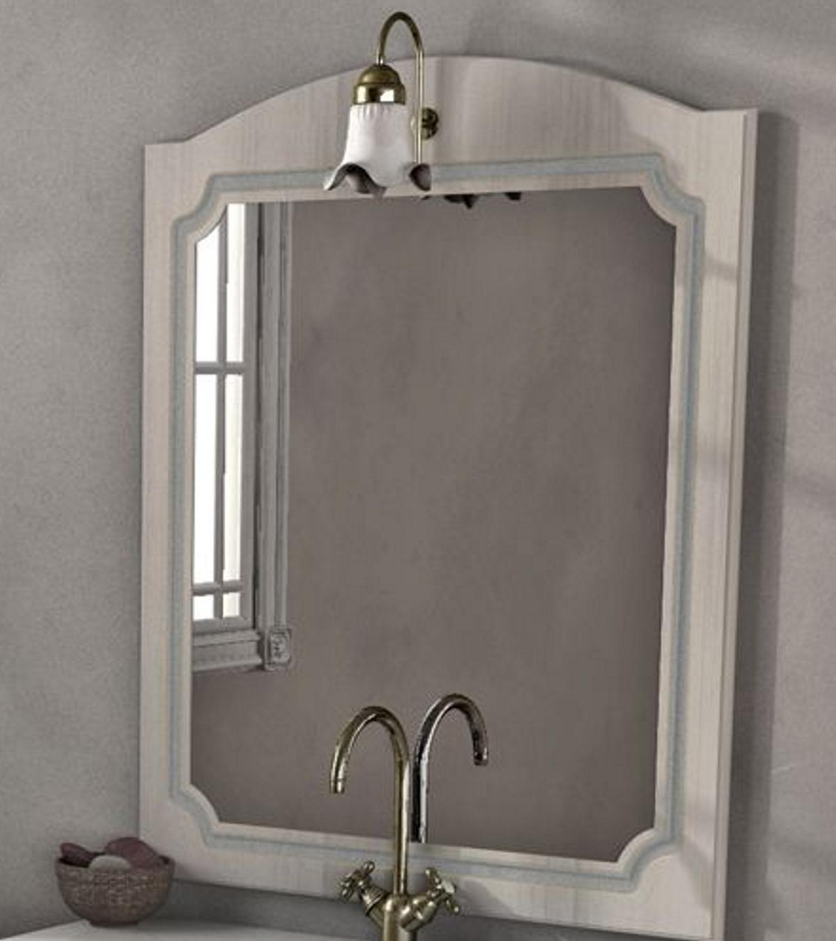 Specchio non luminoso bagno rettangolare Caravaggio L 80 x H 100 cm - 3