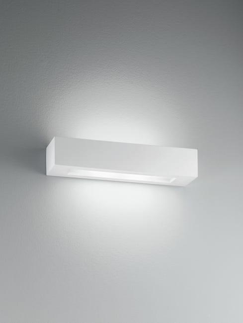 Applique design Candida bianco, in gesso, 36 cm, 2 luci INTEC - 1