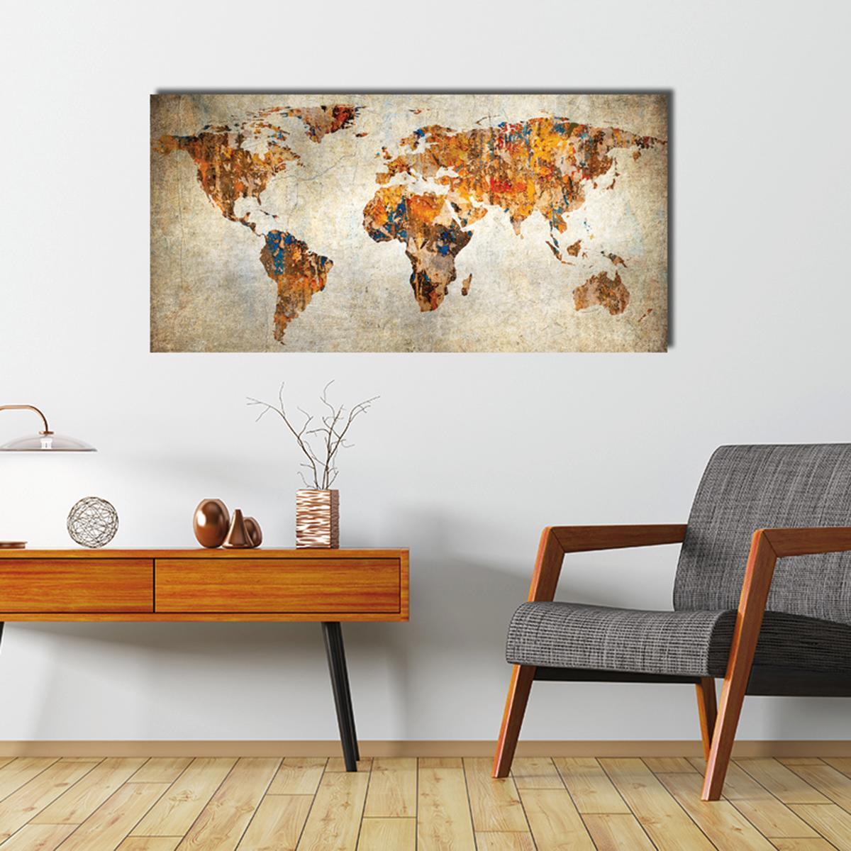 Dipinto su tela Maps 70x140 cm - 2