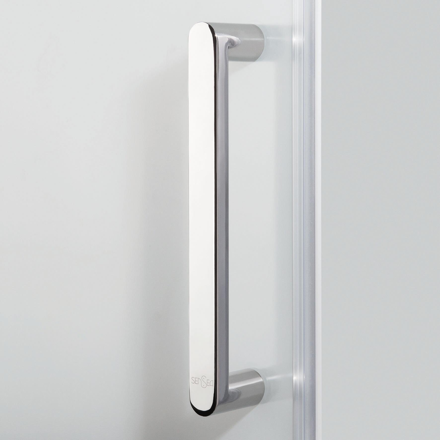 Box doccia quadrato battente Quad 70 x 80 cm, H 190 cm in vetro temprato, spessore 6 mm serigrafato argento - 6