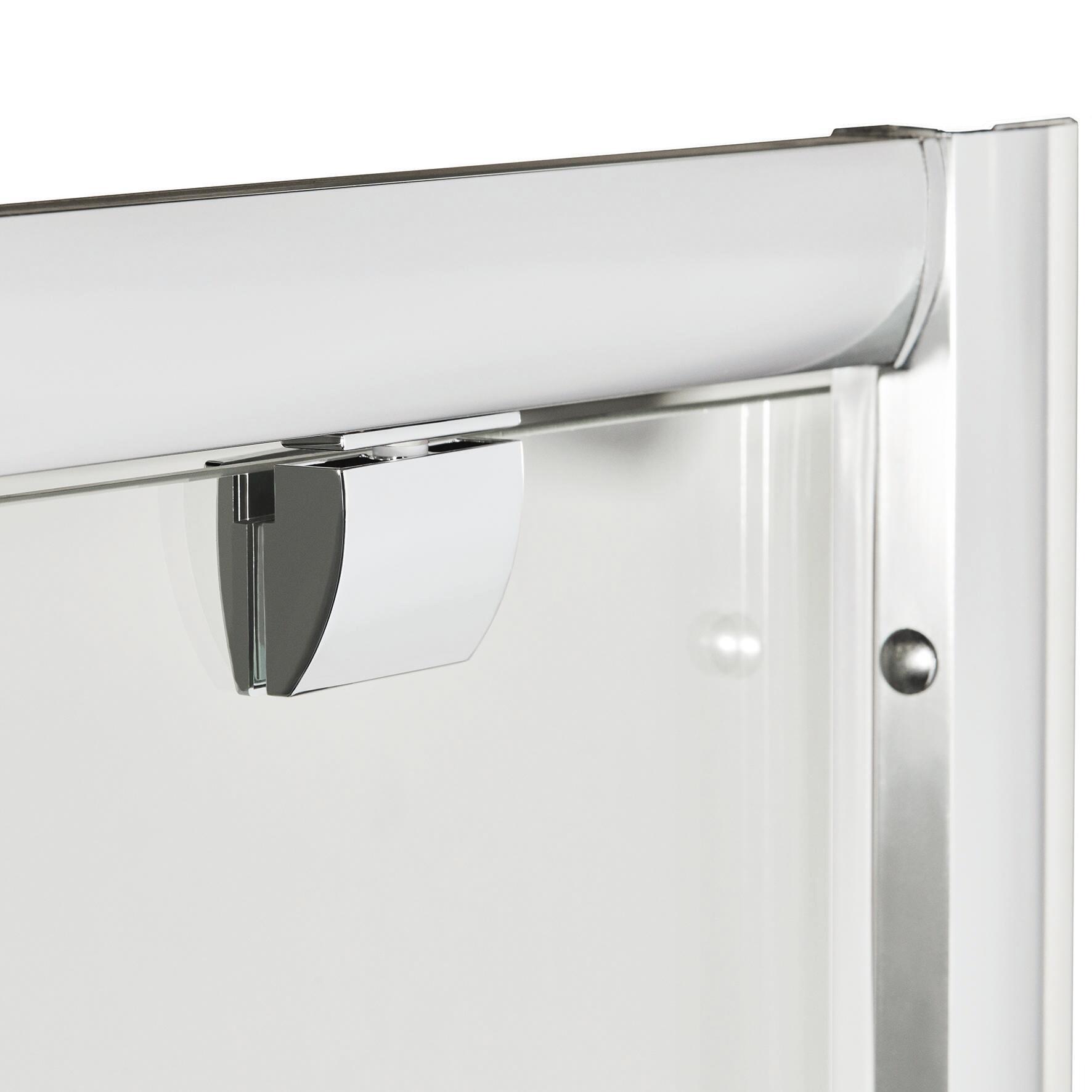 Box doccia quadrato battente Quad 70 x 80 cm, H 190 cm in vetro temprato, spessore 6 mm serigrafato argento - 2