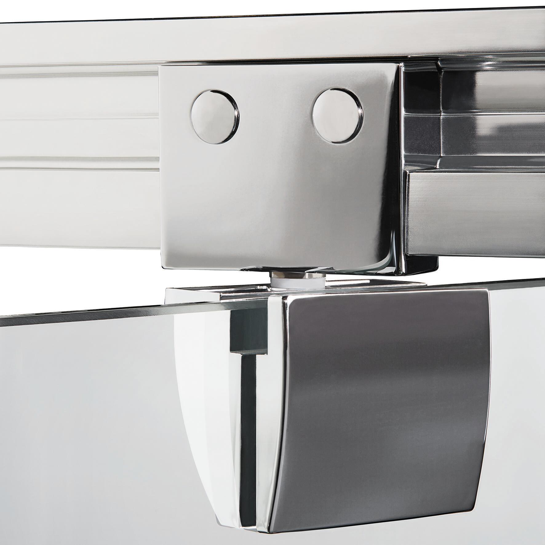 Box doccia quadrato battente Quad 70 x 80 cm, H 190 cm in vetro temprato, spessore 6 mm serigrafato argento - 5