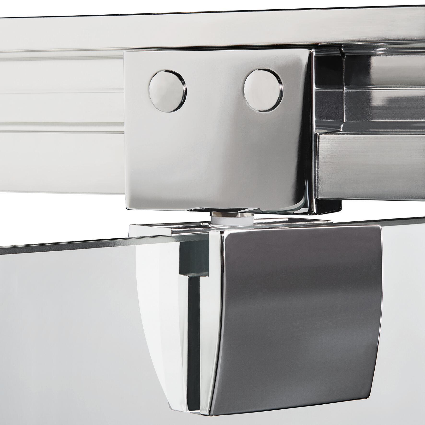Box doccia rettangolare battente Quad 70 x 80 cm, H 190 cm in vetro temprato, spessore 6 mm trasparente argento - 6