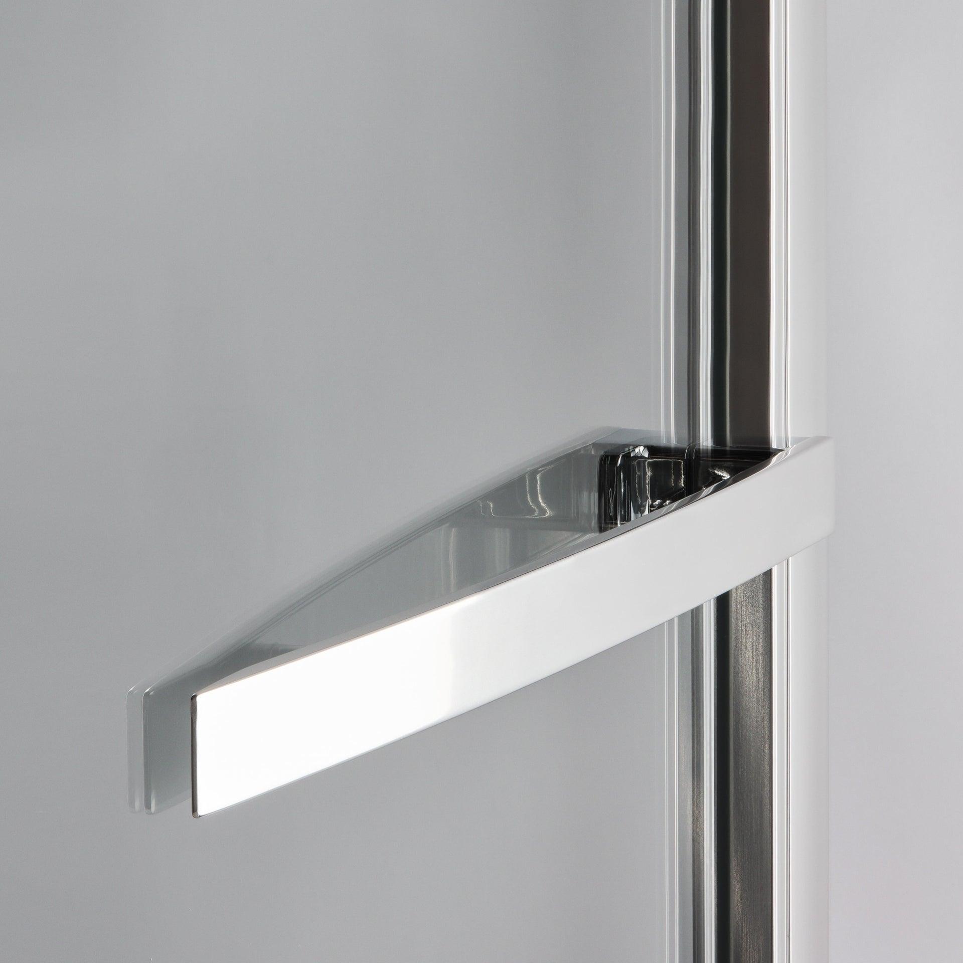 Porta doccia battente Namara 120 cm, H 195 cm in vetro temprato, spessore 8 mm trasparente silver - 2