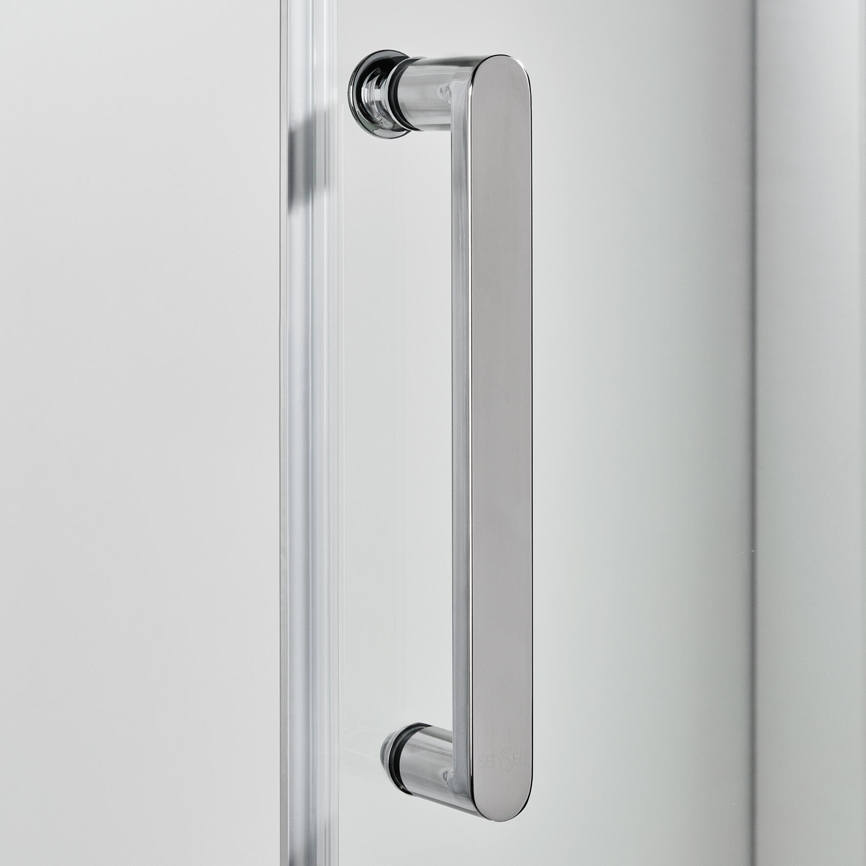 Porta doccia scorrevole Quad 100 cm, H 190 cm in vetro, spessore 6 mm trasparente satinato - 7