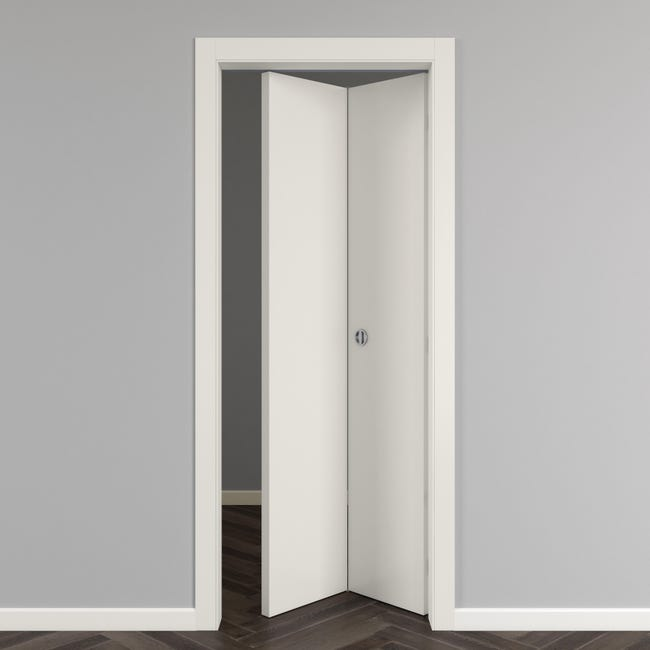Porta pieghevole Strauss bianco L 80 x H 210 cm reversibile - 1