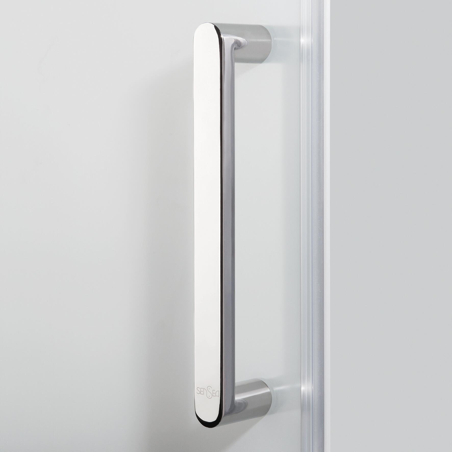 Box doccia rettangolare scorrevole Quad 80 x 100 cm, H 190 cm in vetro temprato, spessore 6 mm serigrafato argento - 2