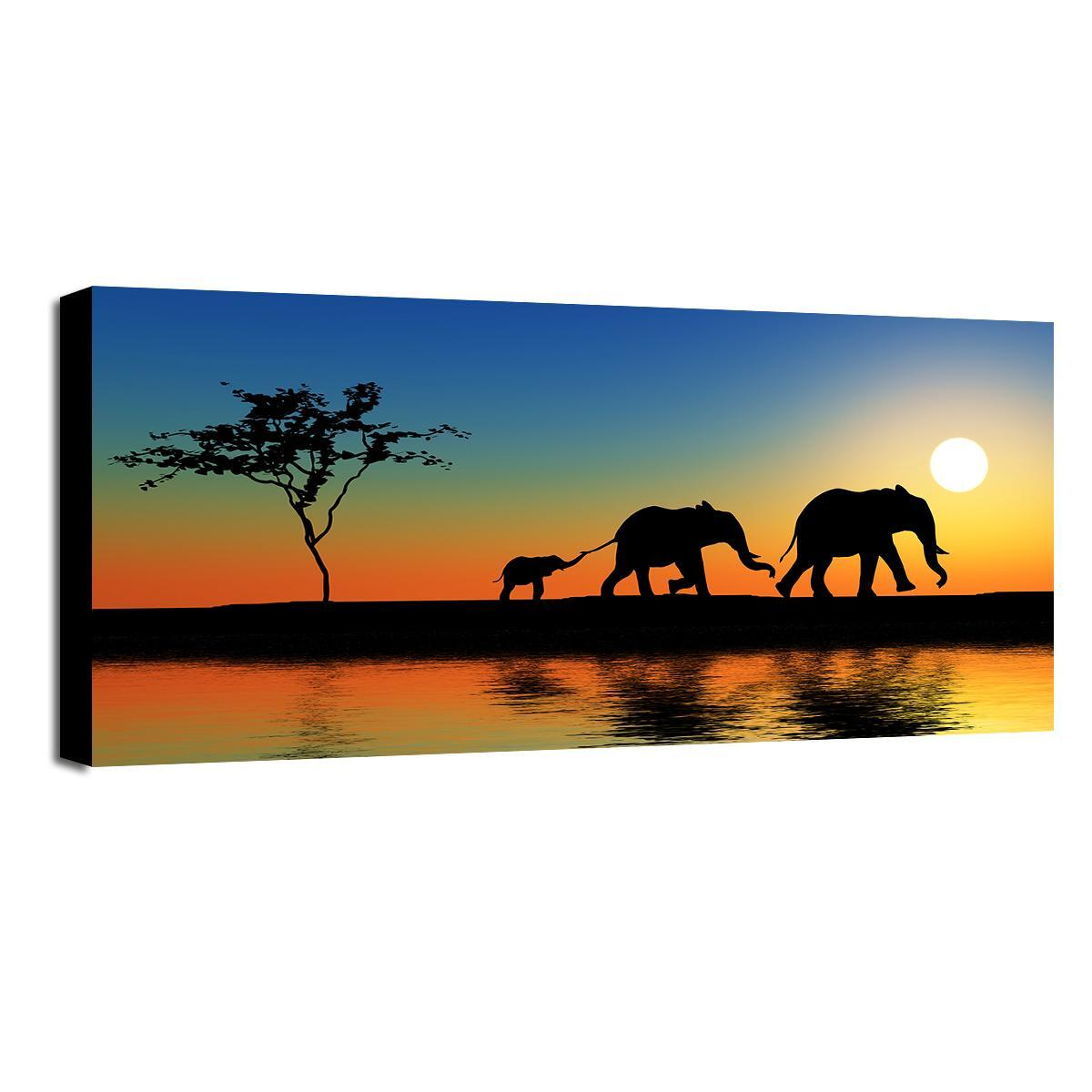 Dipinto su tela Africa 120x60 cm - 6