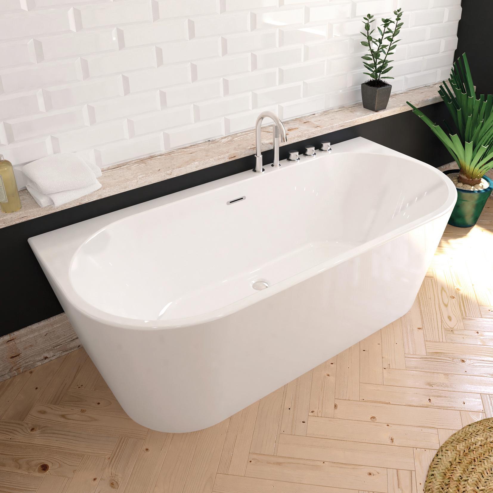 Vasca rettangolare Torino bianco 170 x 80 cm SANYCCES - 1