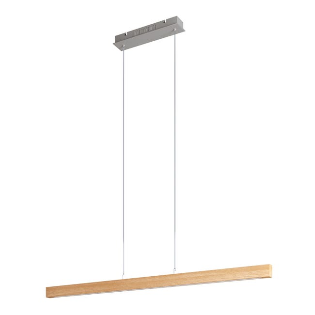 Lampadario Scandinavo Namu LED integrato legno, in legno, L. 118 cm, INSPIRE - 1