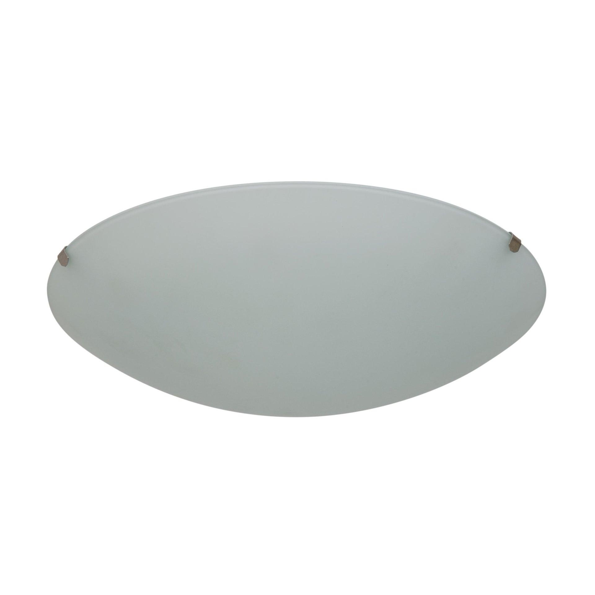 Plafoniera classico Pluton bianco, in cristallo, D. 25 cm 25x25 cm, - 10