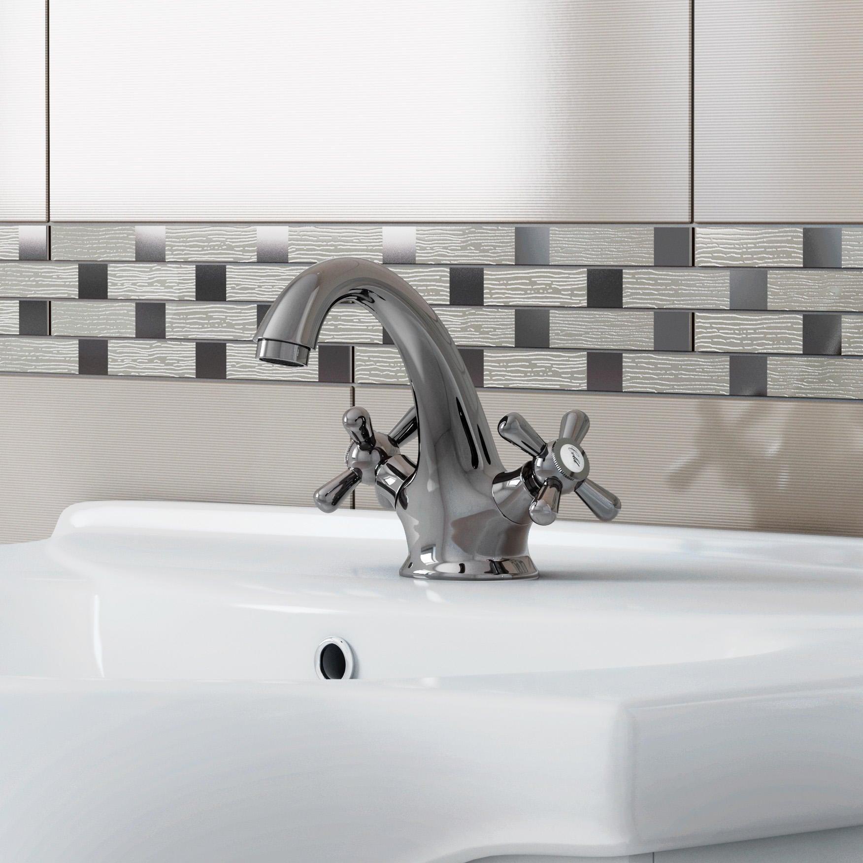 Mobile bagno Ginevra bianco lucido L 56.5 cm - 3