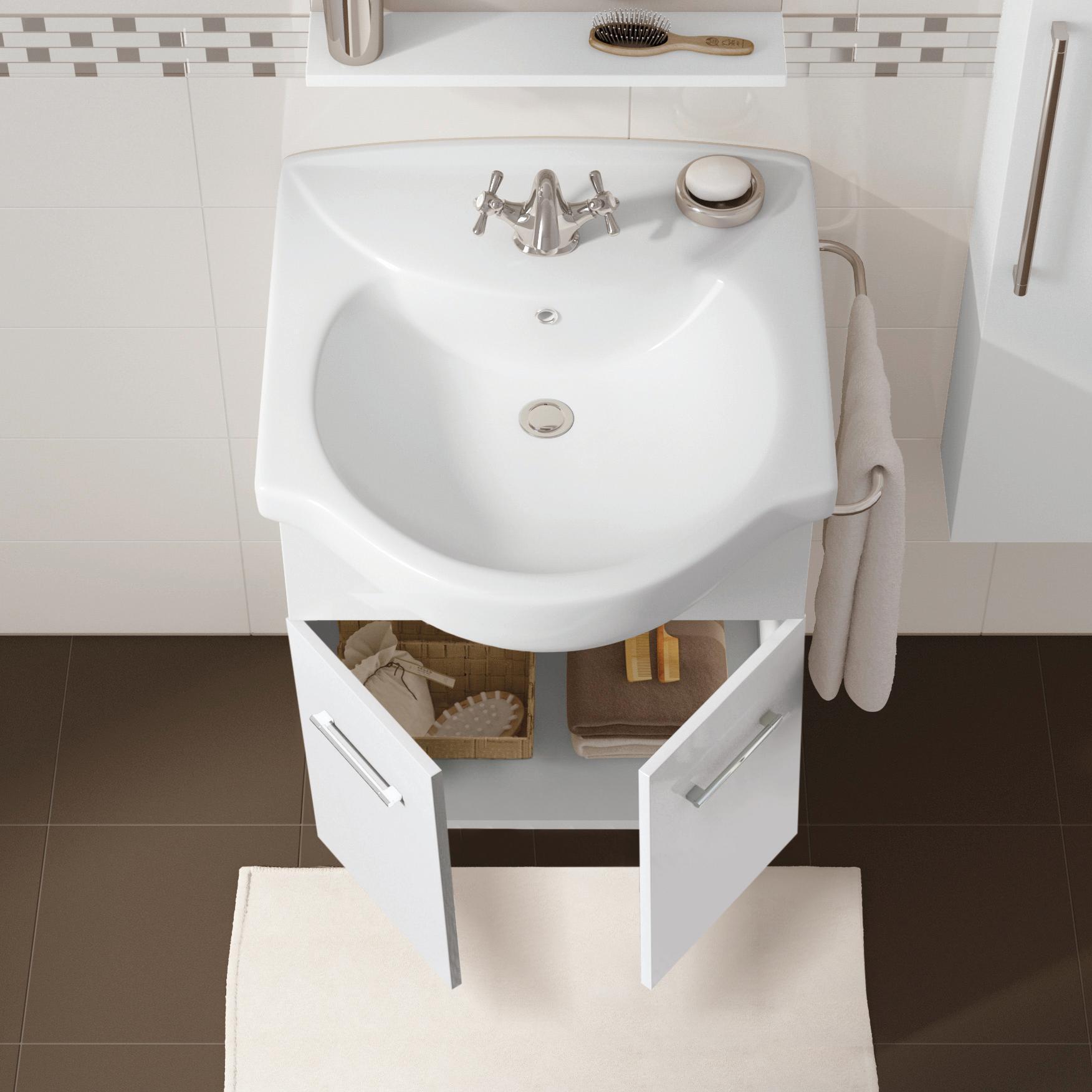 Mobile bagno Ginevra bianco lucido L 56.5 cm - 2