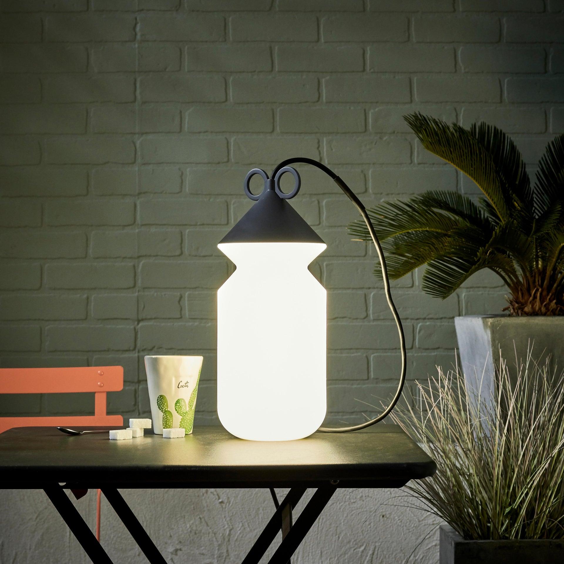 Lampada da esterno H 155 cm, in alluminio, E27 IP44 INSPIRE - 1
