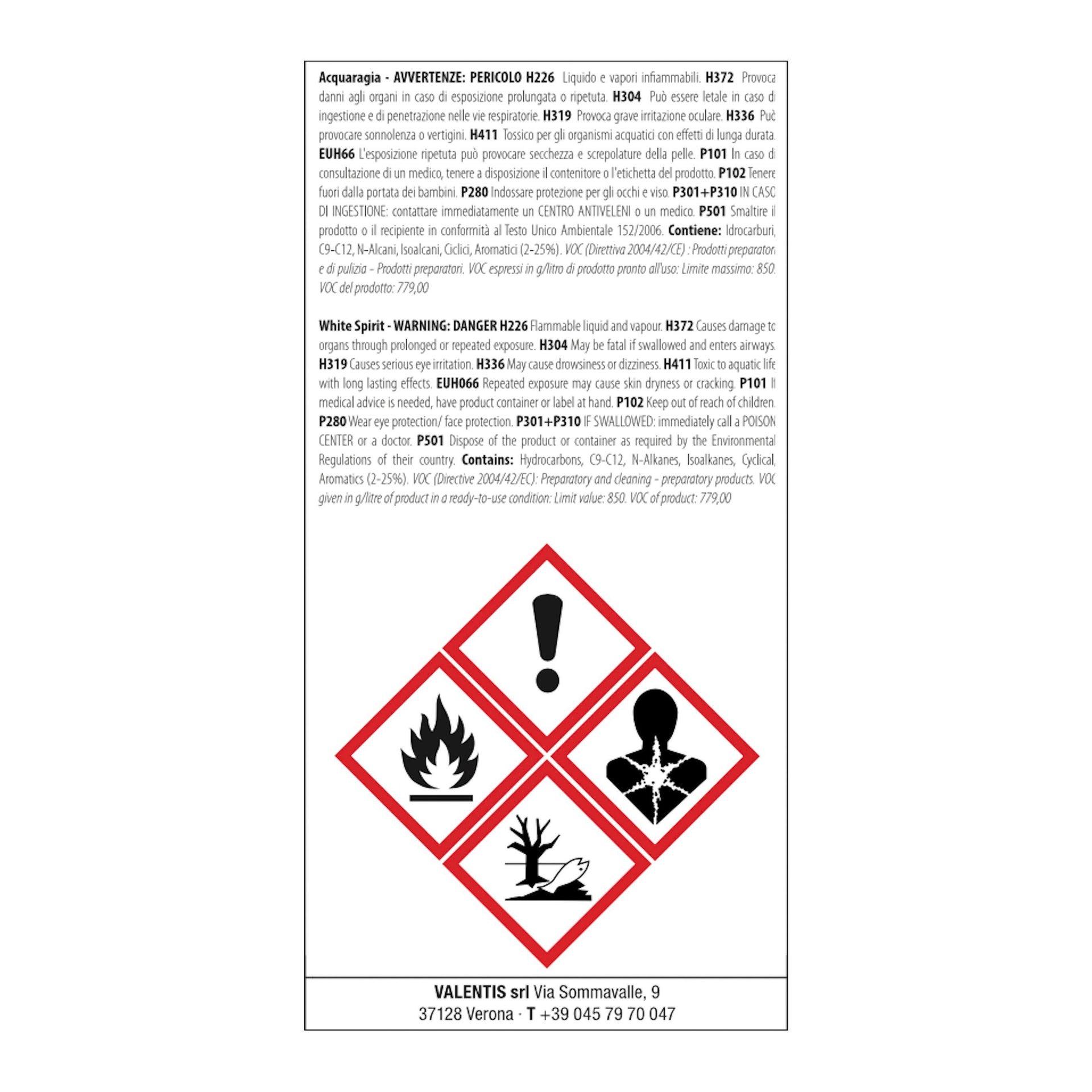 Impregnante a base acqua V33 Acqua-Gel castagno scuro 0.75 L - 2
