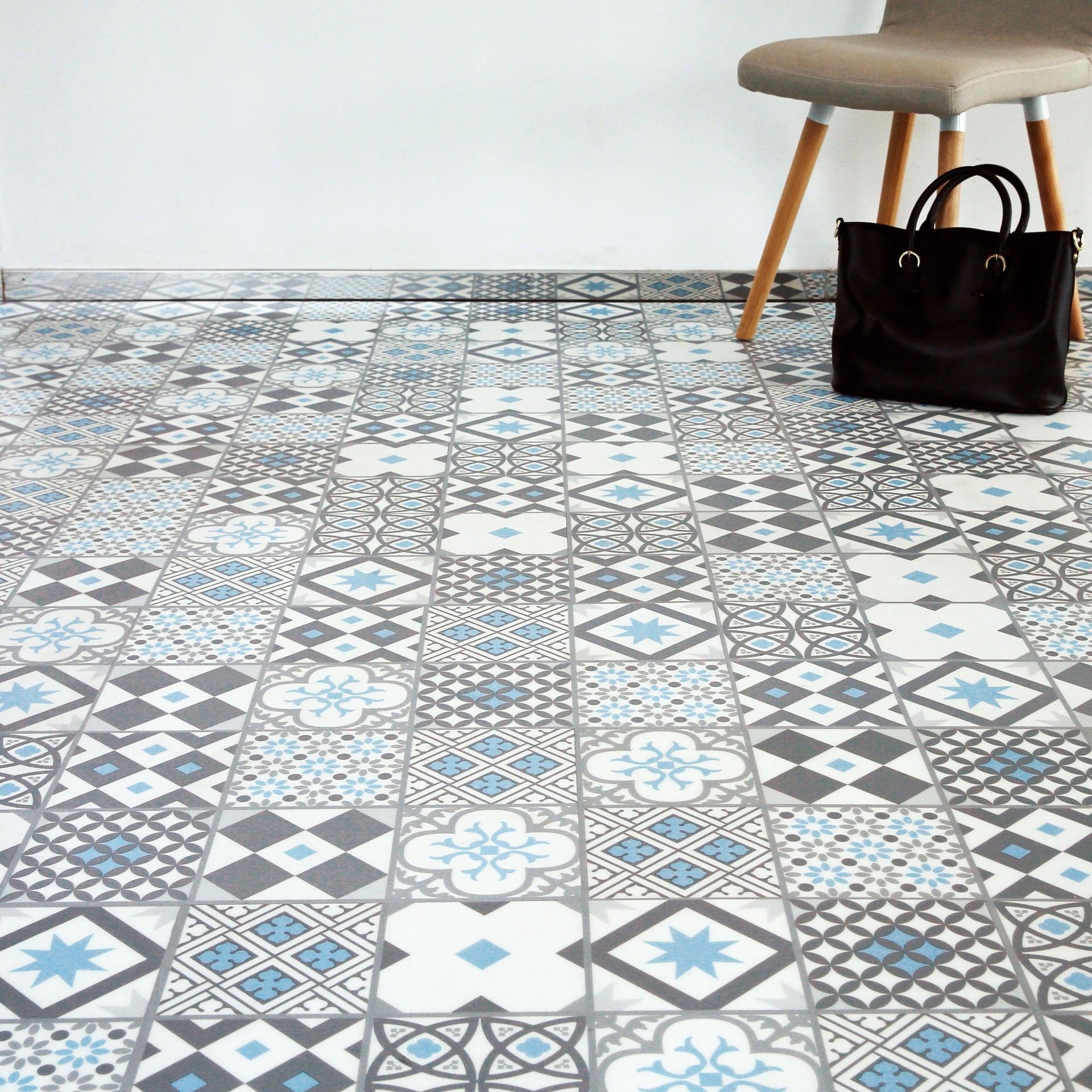 Pavimento PVC flottante clic+ Gatsby Blu Sp 4.2 mm multicolore - 1