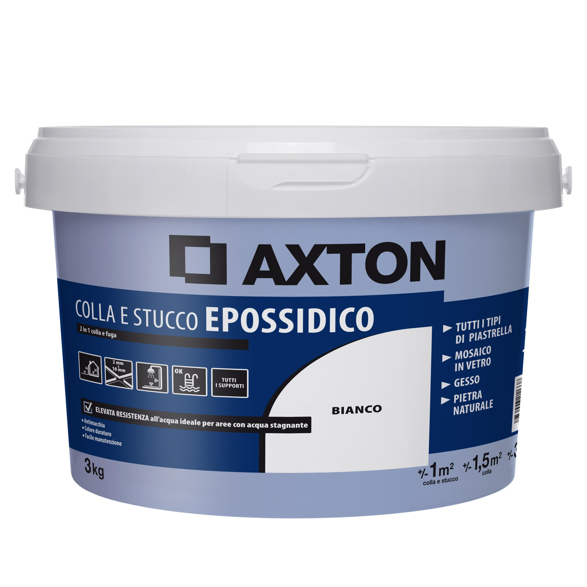 Stucco in pasta Epossidica AXTON 3 kg ultrabianco - 2