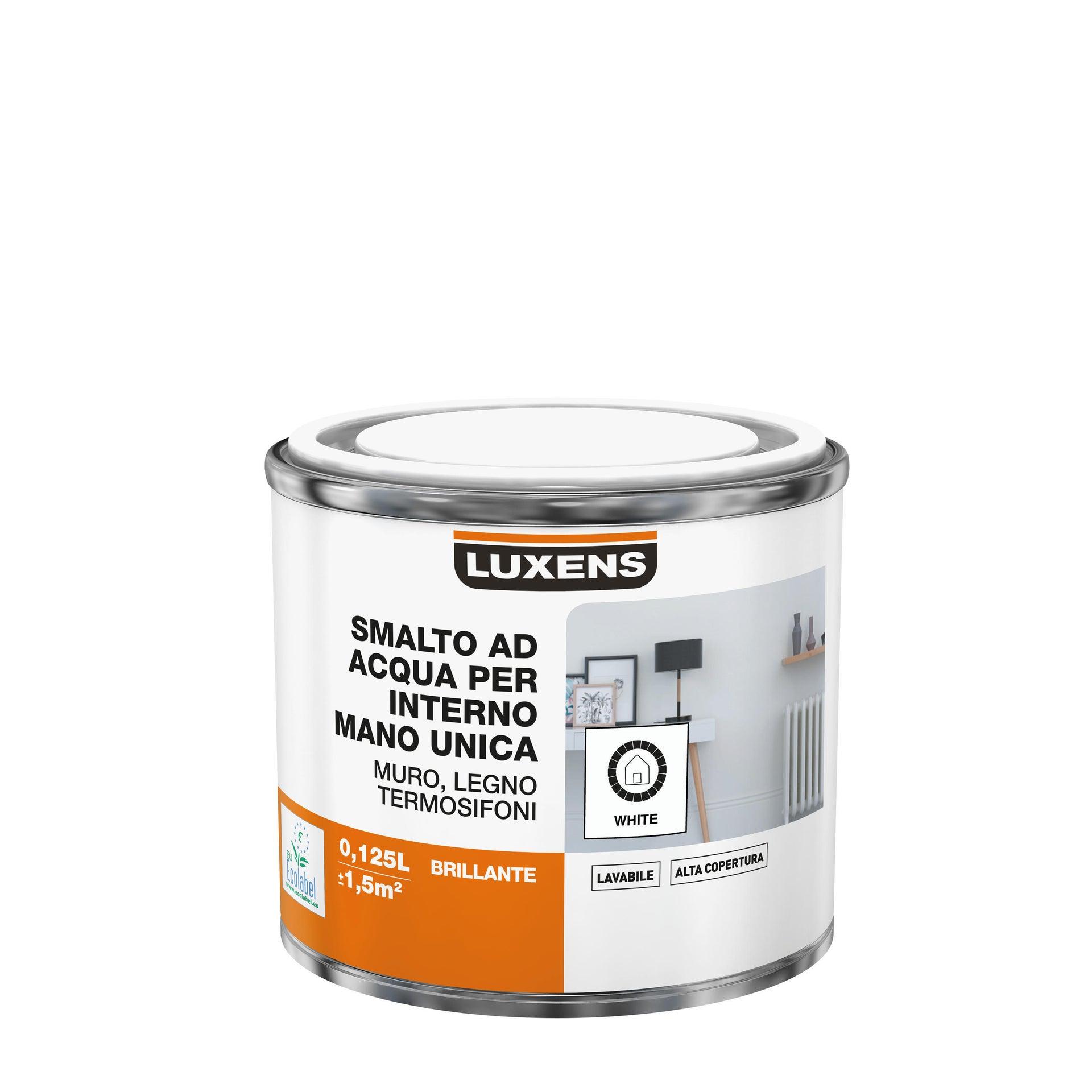 Vernice di finitura LUXENS Manounica base acqua bianco lucido 0.125 L - 4