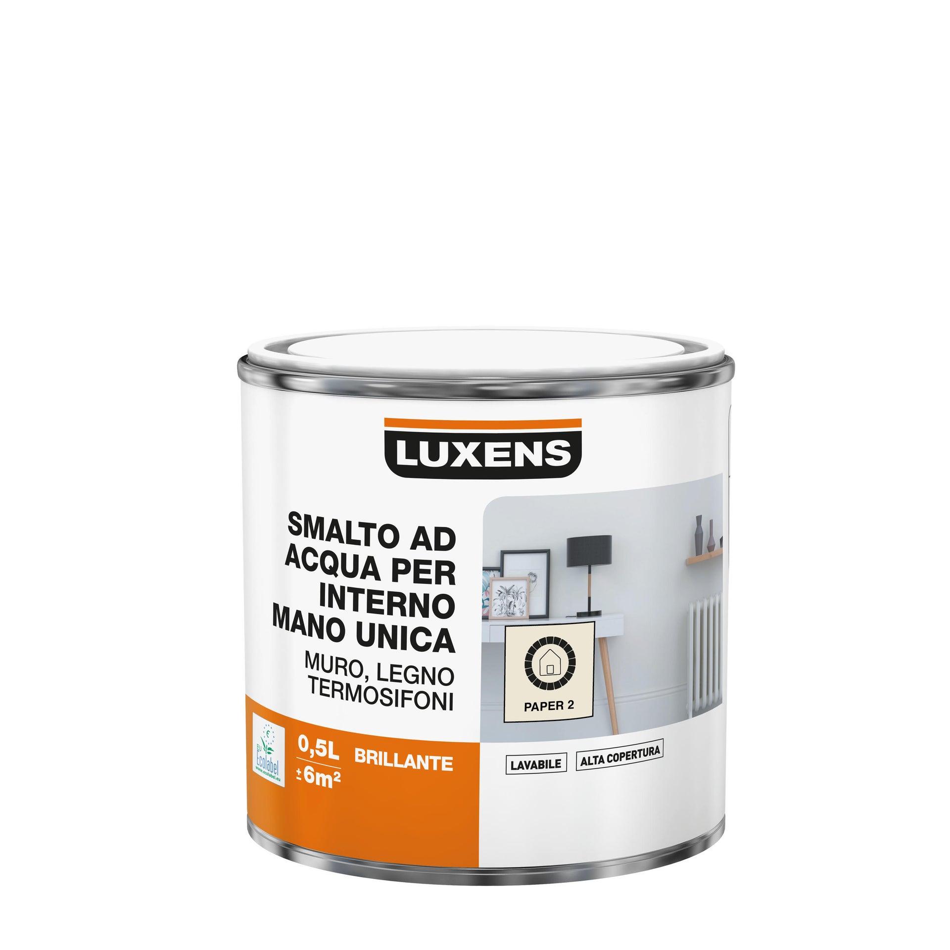 Vernice di finitura LUXENS Manounica base acqua bianco paper 2 lucido 0.5 L - 2