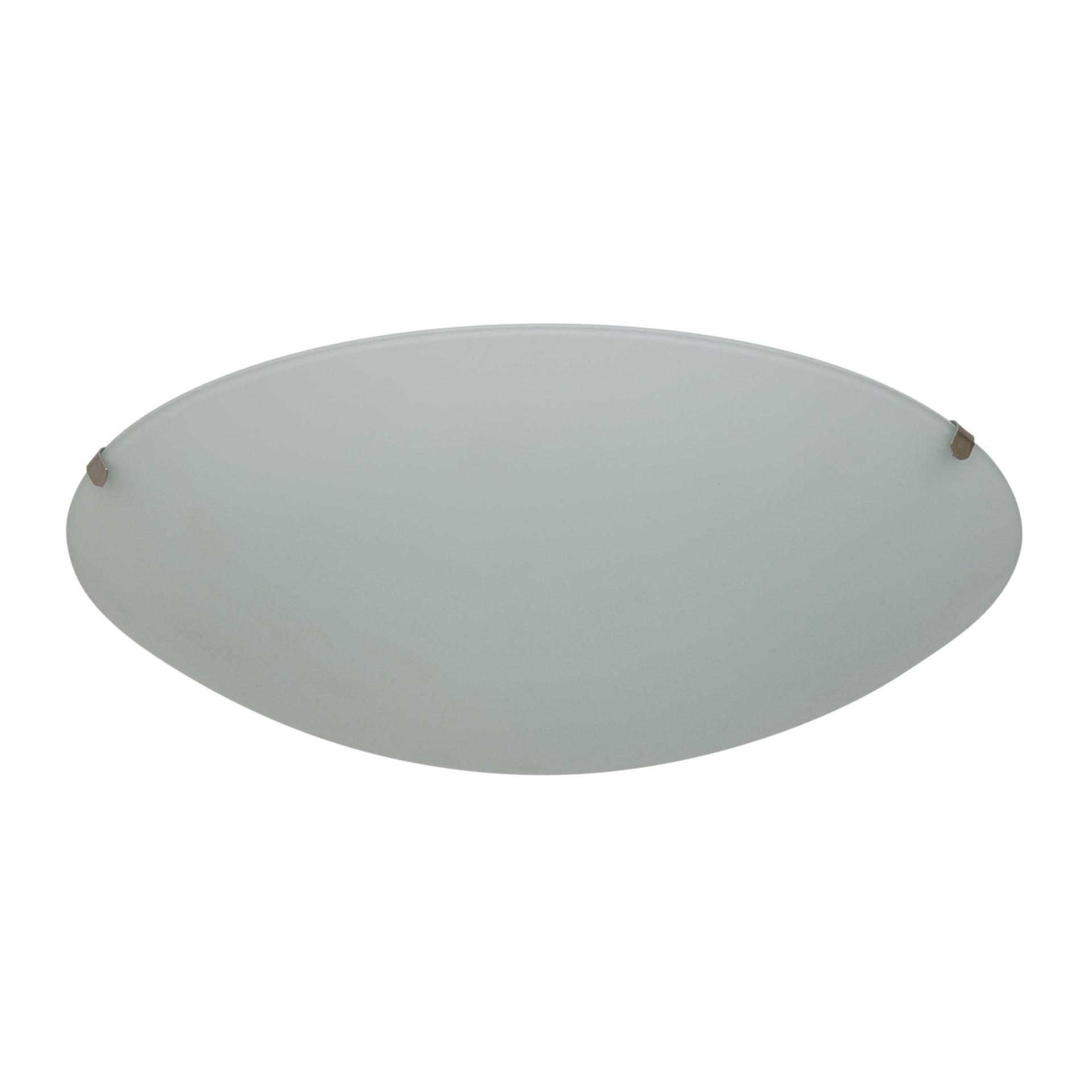 Plafoniera classico Pluton bianco, in cristallo, D. 25 cm 25x25 cm, - 3
