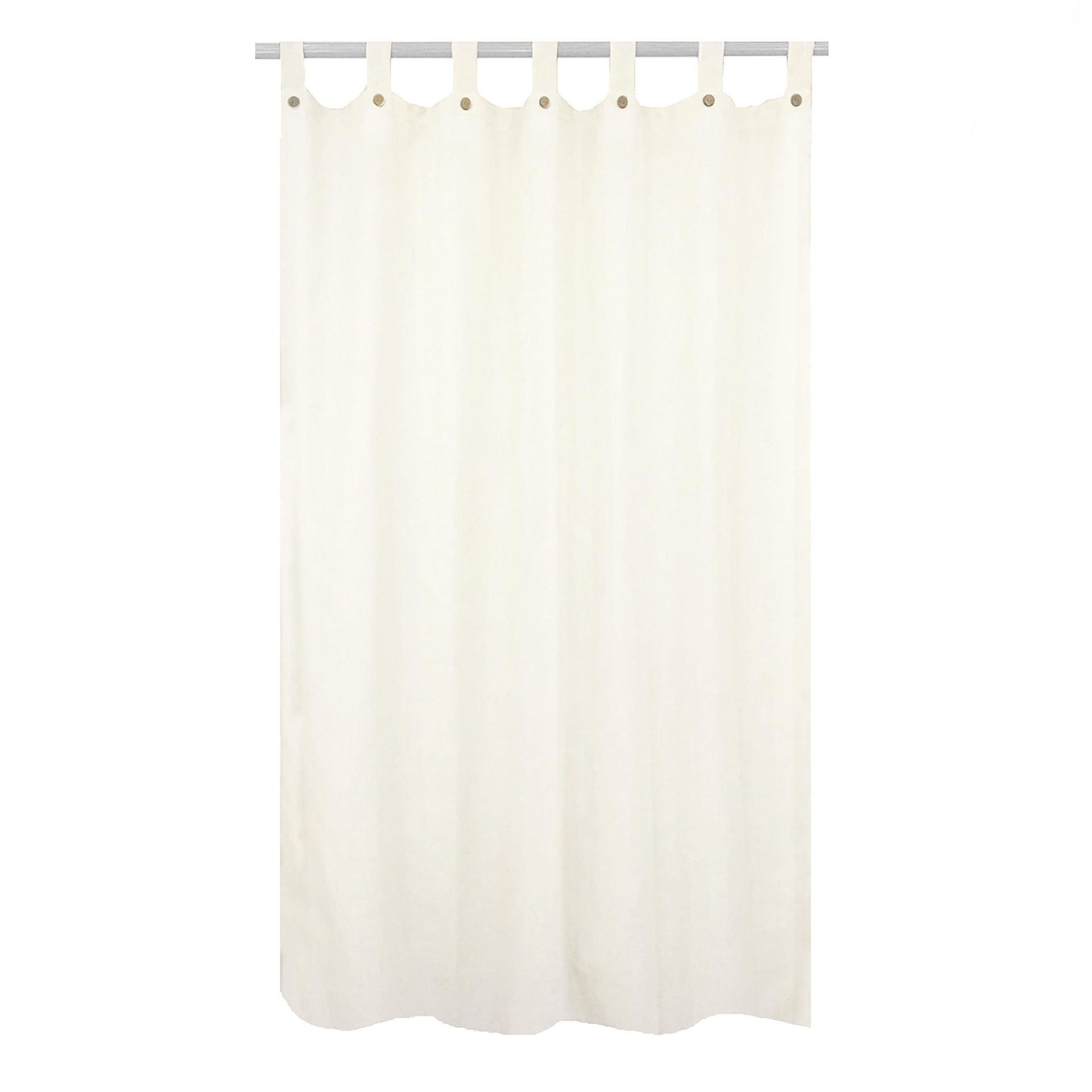 Tenda INSPIRE Charlina bianco passanti 140 x 280 cm - 5