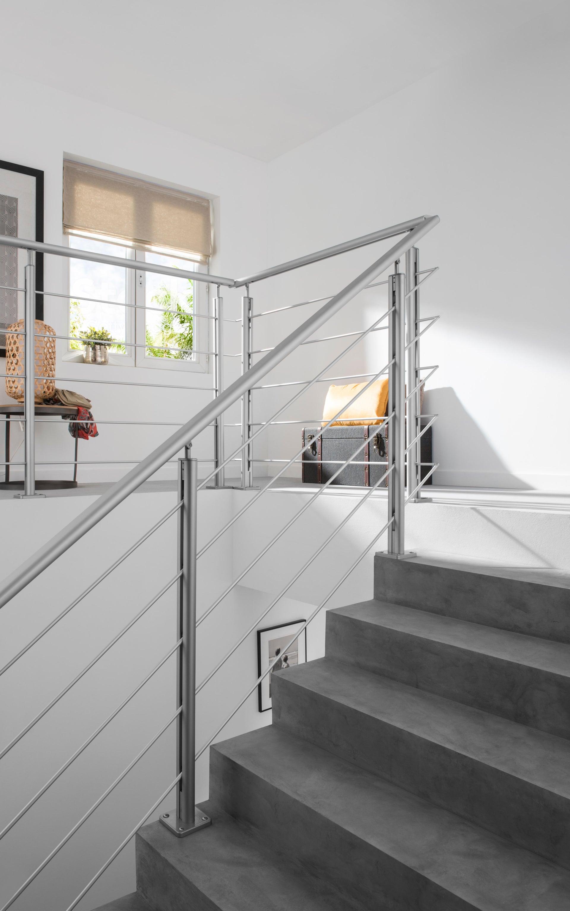 Balaustra ARTENS in alluminio L 200 x H 100 cm grigio - 11