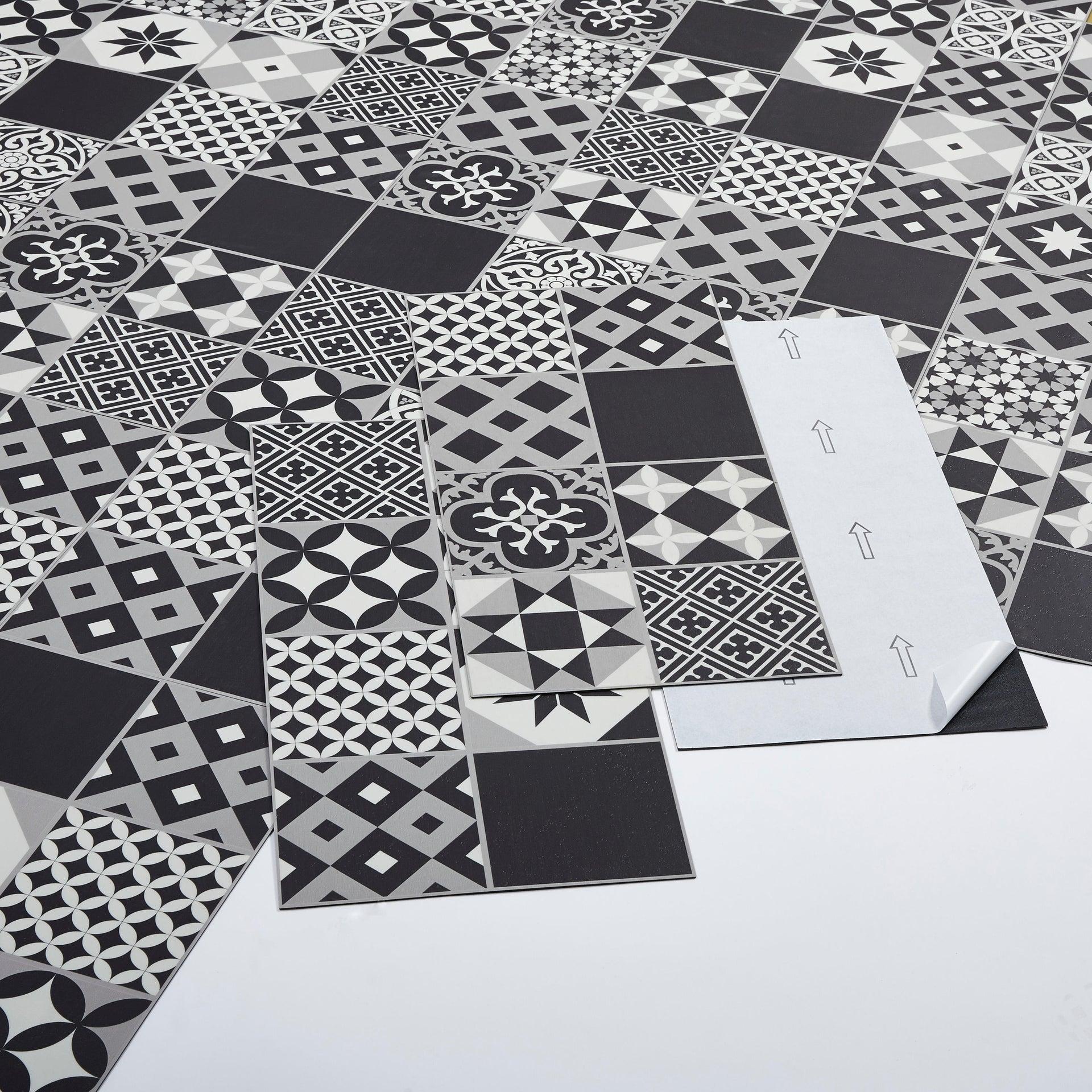 Pavimento PVC adesivo Gatsby Sp 2 mm nero - 2