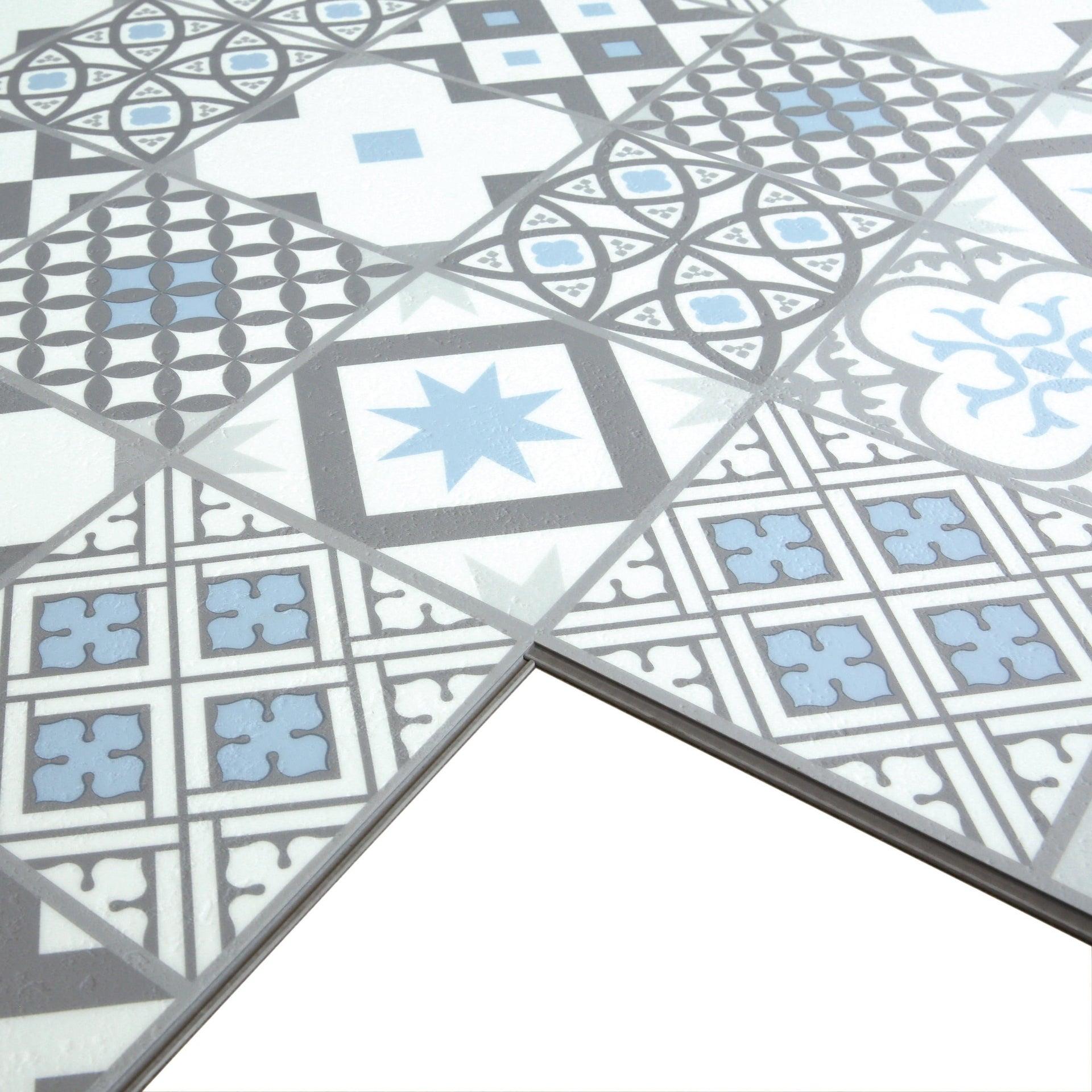 Pavimento PVC flottante clic+ Gatsby Blu Sp 4.2 mm multicolore - 7