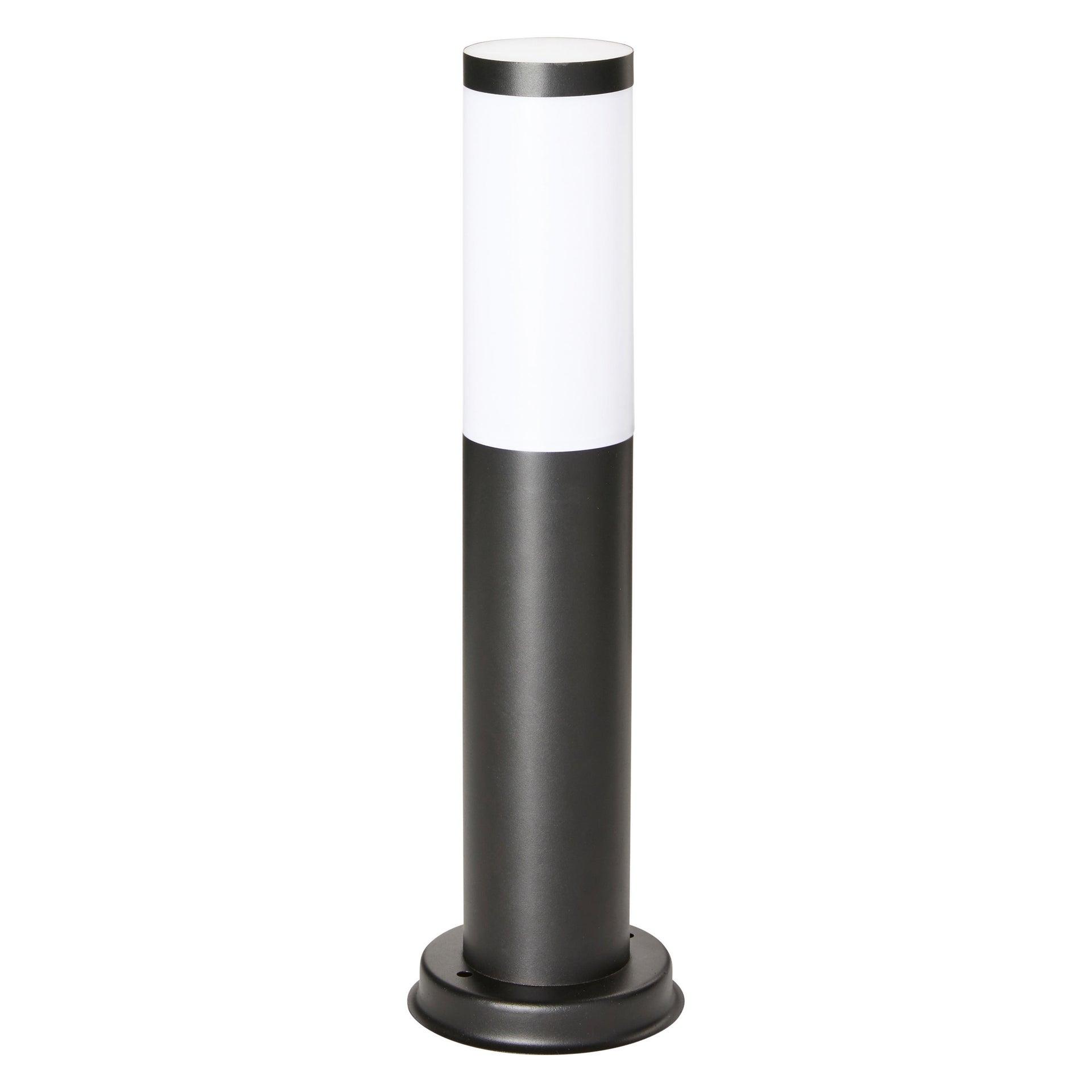 Lampione Travis H45.0 cm in acciaio inossidabile, nero, E27 1x MAX 15W IP44 INSPIRE - 5