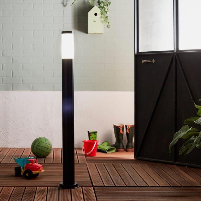 Lampione Travis H100.0 cm in acciaio inossidabile, nero, E27 1x MAX 40W IP44 INSPIRE - 1