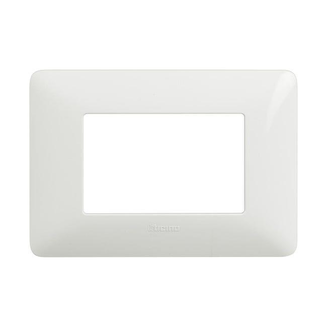 Placca Matix BTICINO 3 moduli bianco - 1