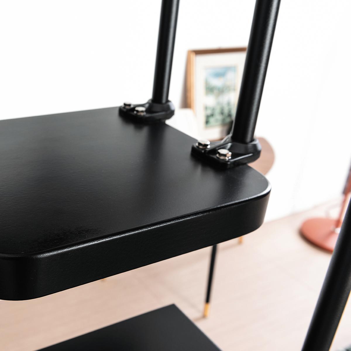 Scala salvaspazio dritto Lindy FONTANOT L 54 cm, gradino nero, struttura nero - 8